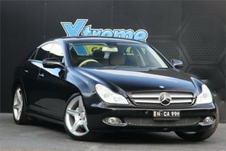 2008 Mercedes-Benz CLS-Class C219 MY08 CLS350 Coupe Black 7 Speed Sports Automatic Sedan.
