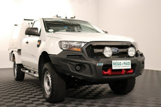 2015 Ford Ranger PX MkII XL Hi-Rider White 6 speed Automatic Cab Chassis.