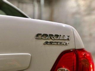 2010 Toyota Corolla ZRE152R Ascent White 4 Speed Automatic Sedan
