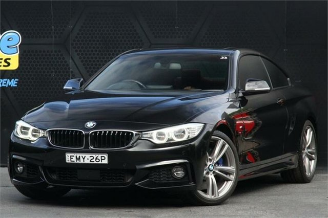 Used BMW 4 Series F32 435i Campbelltown, 2013 BMW 4 Series F32 435i Black 8 Speed Sports Automatic Coupe