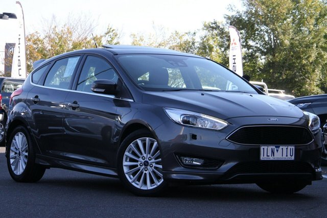 Used Ford Focus LZ Sport Essendon North, 2017 Ford Focus LZ Sport Grey 6 Speed Automatic Hatchback