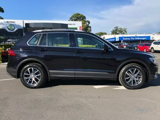 2016 Volkswagen Tiguan 5N MY17 110TSI DSG 2WD Comfortline Black 6 Speed Sports Automatic Dual Clutch.
