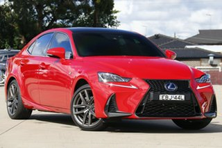 2018 Lexus IS AVE30R IS300h F Sport Red 1 Speed Constant Variable Sedan Hybrid.