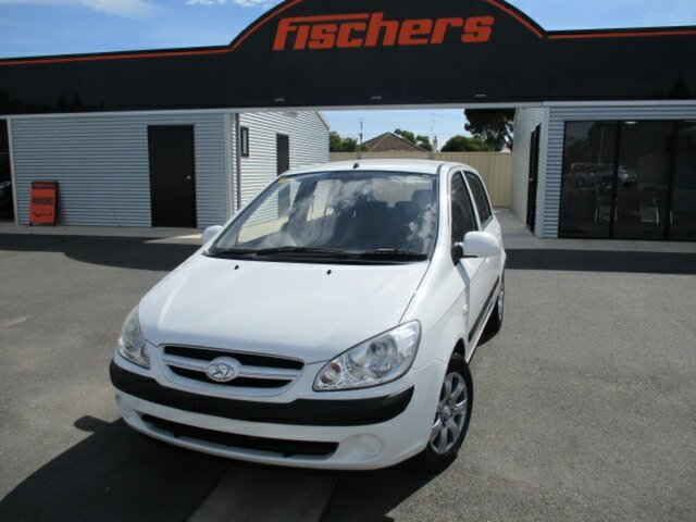 Used Hyundai Getz TB MY07 SX Murray Bridge, 2008 Hyundai Getz TB MY07 SX White 4 Speed Automatic Hatchback