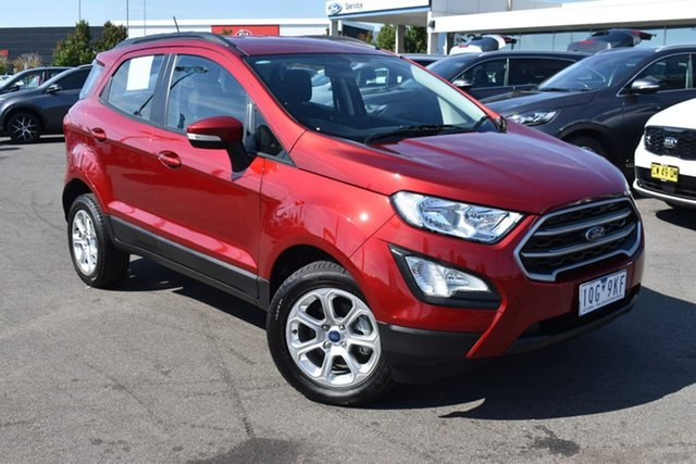 Used Ford Ecosport BL 2020.00MY Trend Essendon Fields, 2019 Ford Ecosport BL 2020.00MY Trend Red 6 Speed Automatic Wagon