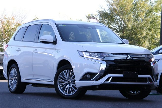 Used Mitsubishi Outlander ZL MY19 PHEV AWD ES Essendon North, 2018 Mitsubishi Outlander ZL MY19 PHEV AWD ES White 1 Speed Automatic Wagon Hybrid