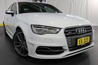 2014 Audi S3 8V MY15 Sportback S Tronic Quattro White 6 Speed Sports Automatic Dual Clutch Hatchback.