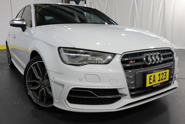 Used Audi S3 8V MY15 Sportback S Tronic Quattro Castle Hill, 2014 Audi S3 8V MY15 Sportback S Tronic Quattro White 6 Speed Sports Automatic Dual Clutch Hatchback