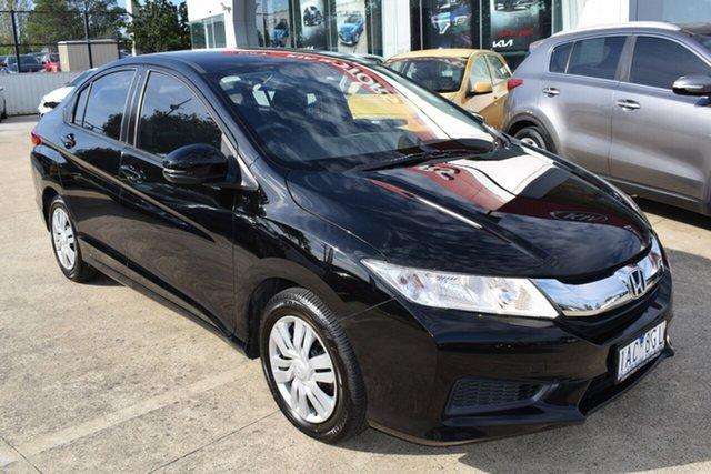 Used Honda City GM MY14 VTi Ferntree Gully, 2014 Honda City GM MY14 VTi Black/Grey 5 Speed Manual Sedan