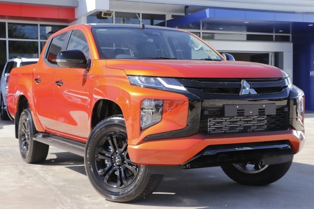 New Mitsubishi Triton MR MY21 GSR Double Cab Parramatta, 2021 Mitsubishi Triton MR MY21 GSR Double Cab Sunflare Orange 6 Speed Sports Automatic Utility