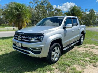 2017 Volkswagen Amarok 2H MY17 TDI550 4MOTION Perm Highline Silver 8 Speed Automatic Utility.