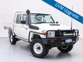 2017 Toyota Landcruiser LC70 VDJ79R MY17 Workmate (4x4) White 5 Speed Manual Double Cab Chassis.