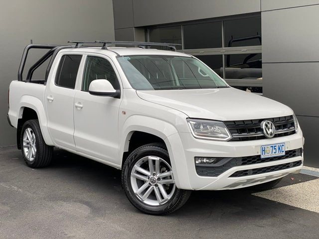 Used Volkswagen Amarok 2H MY18 TDI420 4MOTION Perm Core Hobart, 2017 Volkswagen Amarok 2H MY18 TDI420 4MOTION Perm Core White 8 Speed Automatic Utility