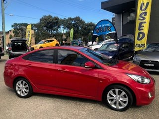 2011 Hyundai Accent RB Premium Maroon 4 Speed Sports Automatic Sedan