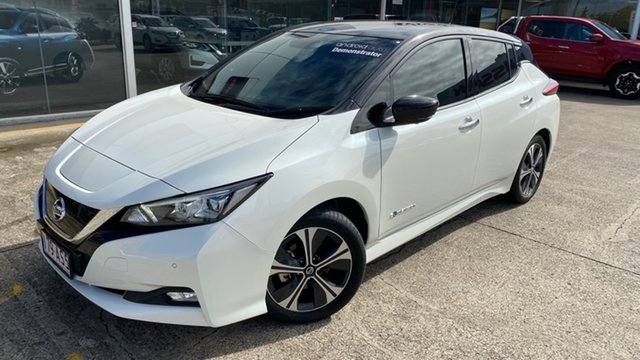 Demo Nissan Leaf ZE1 Moorooka, 2019 Nissan Leaf ZE1 Ivory Pearl & Black Roof 1 Speed Reduction Gear Hatchback