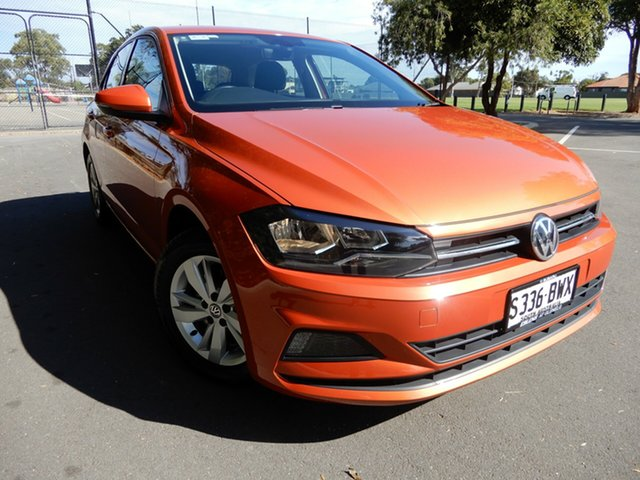 Used Volkswagen Polo AW MY18 85TSI DSG Comfortline Glenelg, 2018 Volkswagen Polo AW MY18 85TSI DSG Comfortline Orange 7 Speed Sports Automatic Dual Clutch