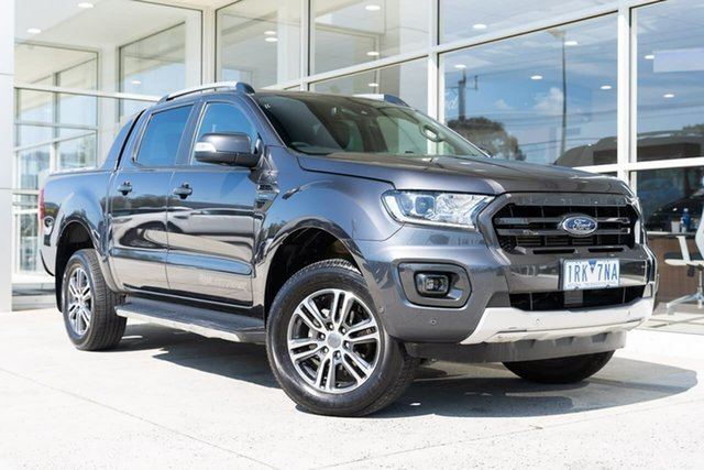 Used Ford Ranger PX MkIII 2020.75MY Wildtrak Ferntree Gully, 2020 Ford Ranger PX MkIII 2020.75MY Wildtrak Grey 10 Speed Sports Automatic Double Cab Pick Up