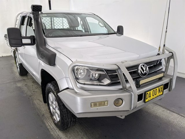 Used Volkswagen Amarok 2H MY13 TDI420 4Motion Perm Maryville, 2013 Volkswagen Amarok 2H MY13 TDI420 4Motion Perm Silver 8 Speed Automatic Cab Chassis