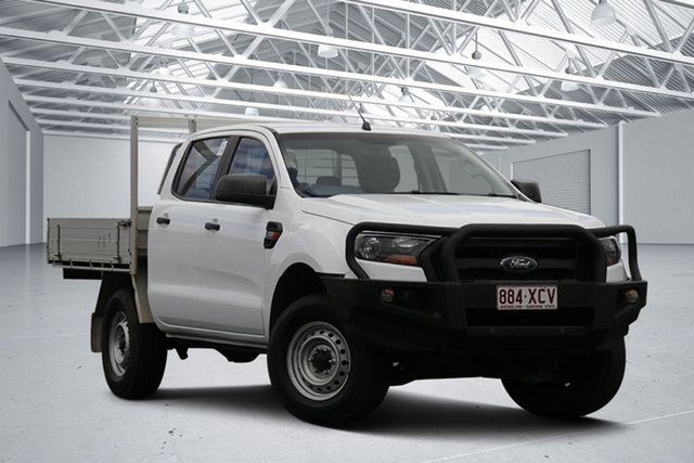 Used Ford Ranger PX MkII MY17 XL 2.2 Hi-Rider (4x2) Eagle Farm, 2017 Ford Ranger PX MkII MY17 XL 2.2 Hi-Rider (4x2) White 6 Speed Automatic Crew Cab Chassis