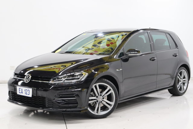 Used Volkswagen Golf 7.5 MY18 110TSI DSG Highline Brooklyn, 2018 Volkswagen Golf 7.5 MY18 110TSI DSG Highline Black/Grey 7 Speed Sports Automatic Dual Clutch