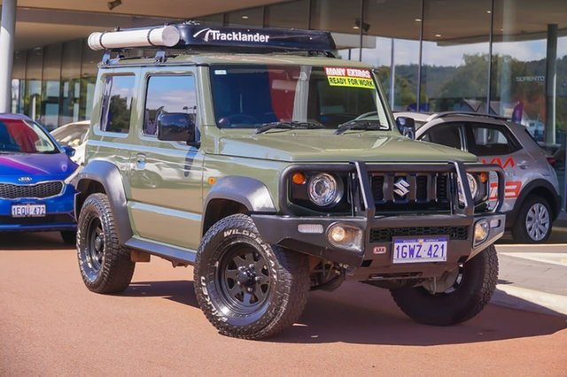 Used Suzuki Jimny JB74 Gosnells, 2019 Suzuki Jimny JB74 Green 5 Speed Manual Hardtop