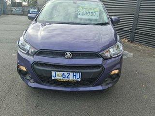 2015 Holden Barina Spark MJ MY15 CD Purple 4 Speed Automatic Hatchback.