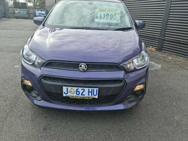 Used Holden Barina Spark MJ MY15 CD Launceston, 2015 Holden Barina Spark MJ MY15 CD Purple 4 Speed Automatic Hatchback