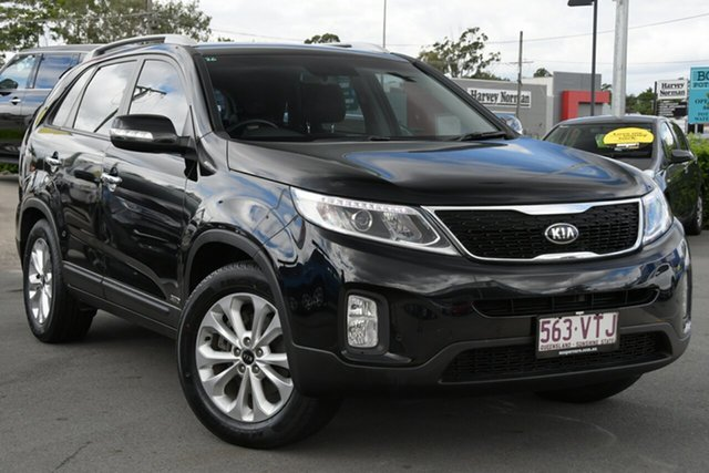 Used Kia Sorento XM MY14 SLi 4WD Aspley, 2014 Kia Sorento XM MY14 SLi 4WD Black 6 Speed Sports Automatic Wagon