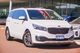 2017 Kia Carnival YP MY17 Platinum White 6 Speed Sports Automatic Wagon.