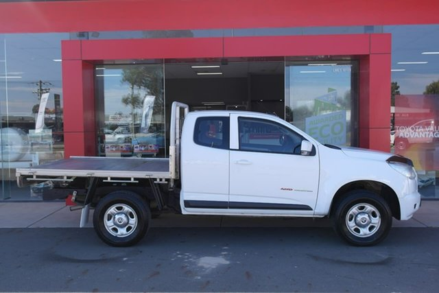 Pre-Owned Holden Colorado RG MY15 LS Space Cab Swan Hill, 2014 Holden Colorado RG MY15 LS Space Cab White 6 Speed Sports Automatic Cab Chassis