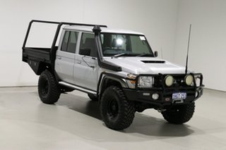 2018 Toyota Landcruiser VDJ79R GXL (4x4) Silver 5 Speed Manual Double Cab Chassis