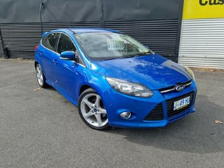 2013 Ford Focus LW MkII Titanium PwrShift Blue 6 Speed Sports Automatic Dual Clutch Hatchback.