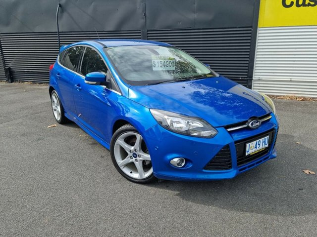 Used Ford Focus LW MkII Titanium PwrShift Launceston, 2013 Ford Focus LW MkII Titanium PwrShift Blue 6 Speed Sports Automatic Dual Clutch Hatchback