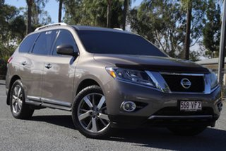 2013 Nissan Pathfinder R52 MY14 Ti X-tronic 2WD Gold 1 Speed Constant Variable Wagon.