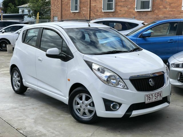 Used Holden Barina Spark MJ MY11 CD Chermside, 2011 Holden Barina Spark MJ MY11 CD White 5 Speed Manual Hatchback