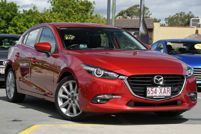 Used Mazda 3 BN5438 SP25 SKYACTIV-Drive GT Aspley, 2016 Mazda 3 BN5438 SP25 SKYACTIV-Drive GT Red 6 Speed Sports Automatic Hatchback