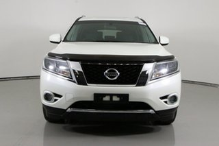 2016 Nissan Pathfinder R52 MY15 Upgrade ST (4x2) White Continuous Variable Wagon.
