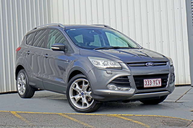 Used Ford Kuga TF Titanium PwrShift AWD Springwood, 2013 Ford Kuga TF Titanium PwrShift AWD Grey 6 Speed Sports Automatic Dual Clutch Wagon