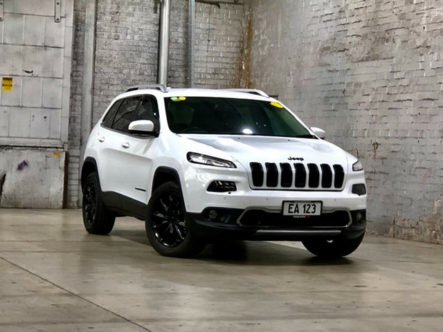 Used Jeep Cherokee KL MY15 Limited Mile End South, 2014 Jeep Cherokee KL MY15 Limited White 9 Speed Sports Automatic Wagon