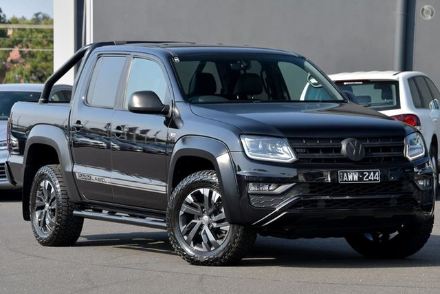 Used Volkswagen Amarok 2H MY18 TDI550 4MOTION Perm Dark Label Moorabbin, 2018 Volkswagen Amarok 2H MY18 TDI550 4MOTION Perm Dark Label Black 8 Speed Automatic Utility