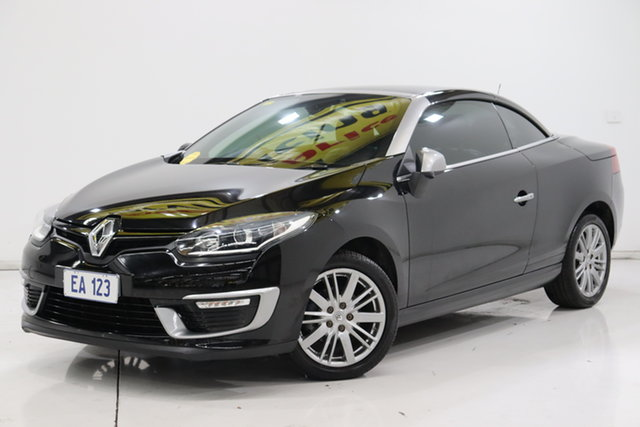 Used Renault Megane III E95 Phase 2 GT-Line Cpe Cabrio Brooklyn, 2015 Renault Megane III E95 Phase 2 GT-Line Cpe Cabrio Black 6 Speed Constant Variable Convertible