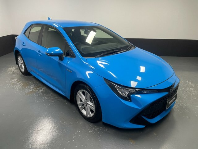Used Toyota Corolla ZWE211R Ascent Sport E-CVT Hybrid Hamilton, 2018 Toyota Corolla ZWE211R Ascent Sport E-CVT Hybrid Blue 10 Speed Constant Variable Hatchback
