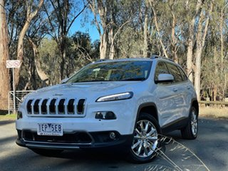 2015 Jeep Cherokee KL MY15 Limited White 9 Speed Sports Automatic Wagon.