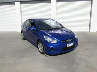 2011 Hyundai Accent RB Active Blue 4 Speed Sports Automatic Sedan.