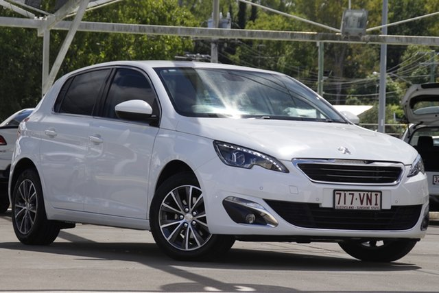 Used Peugeot 308 T9 Allure Bundamba, 2014 Peugeot 308 T9 Allure White 6 Speed Sports Automatic Hatchback