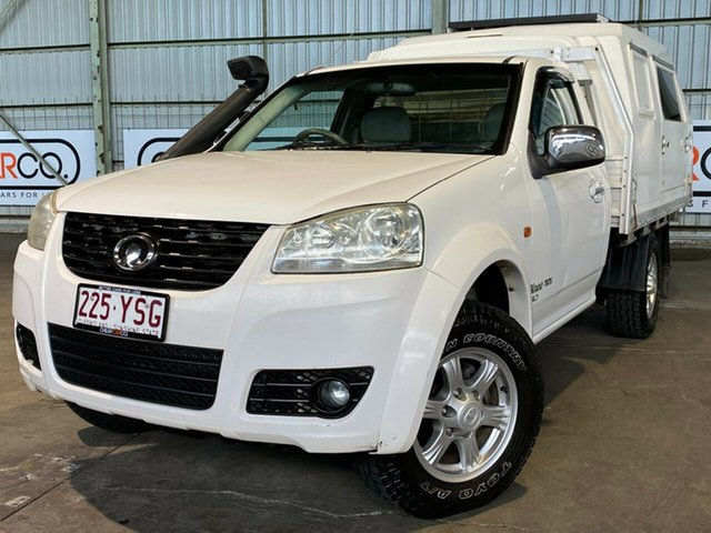 Used Great Wall V200 K2 MY12 Rocklea, 2012 Great Wall V200 K2 MY12 White 6 Speed Manual Cab Chassis