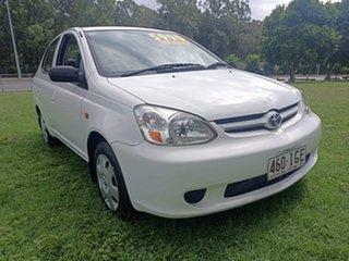 2003 Toyota Echo NCP12R MY03 White 4 Speed Automatic Sedan.