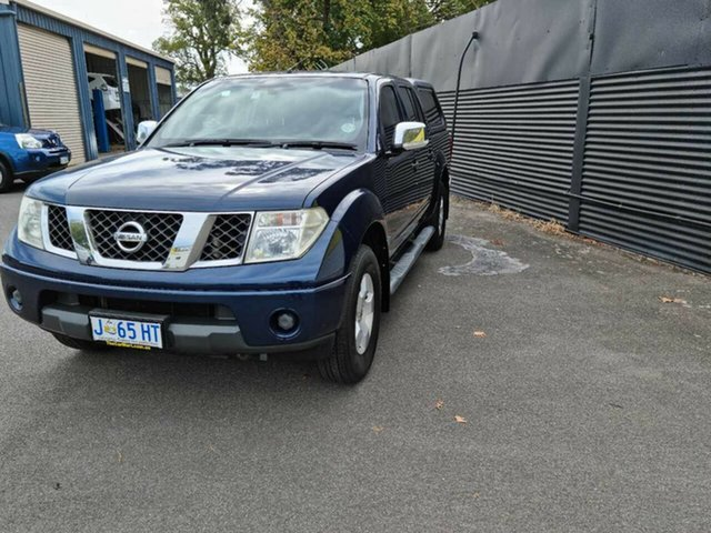 Used Nissan Navara D40 ST-X Launceston, 2007 Nissan Navara D40 ST-X Blue 5 Speed Automatic Utility