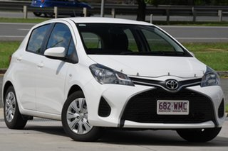 2016 Toyota Yaris NCP130R Ascent White 5 Speed Manual Hatchback.