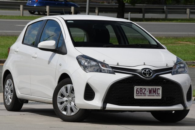 Used Toyota Yaris NCP130R Ascent North Lakes, 2016 Toyota Yaris NCP130R Ascent White 5 Speed Manual Hatchback